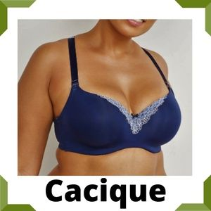 Cacique Smooth Lightly Lined Balconette Bra  44DD